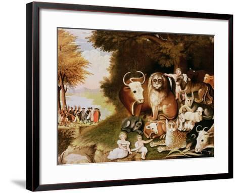 The Peaceable Kingdom, 1832-34 (See also 84503)-Edward Hicks-Framed Art Print