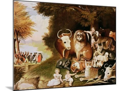 The Peaceable Kingdom, 1832-34 (See also 84503)-Edward Hicks-Mounted Giclee Print