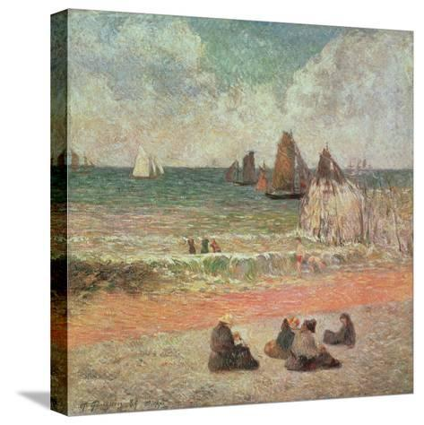 Bathing, Dieppe, 1885-Paul Gauguin-Stretched Canvas Print