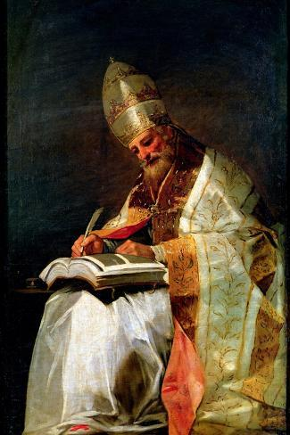 St. Gregory the Great, 1795-99-Francisco de Goya-Stretched Canvas Print