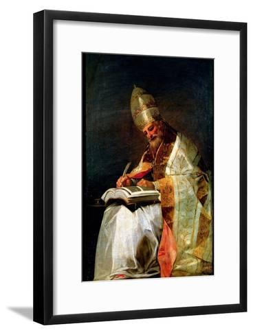 St. Gregory the Great, 1795-99-Francisco de Goya-Framed Art Print