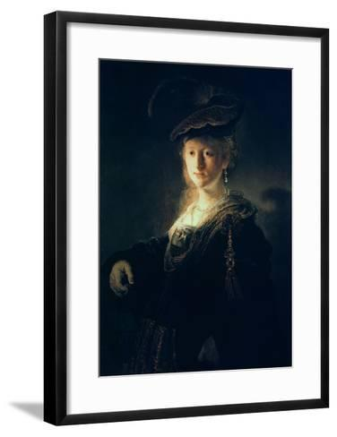 Young Woman in Fancy Dress-Rembrandt van Rijn-Framed Art Print