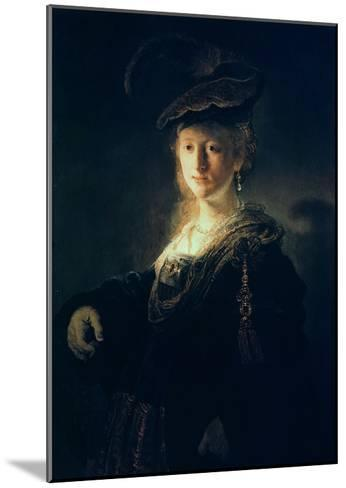 Young Woman in Fancy Dress-Rembrandt van Rijn-Mounted Giclee Print