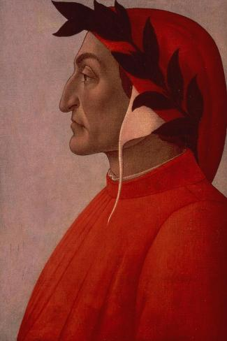 Portrait of Dante-Sandro Botticelli-Stretched Canvas Print