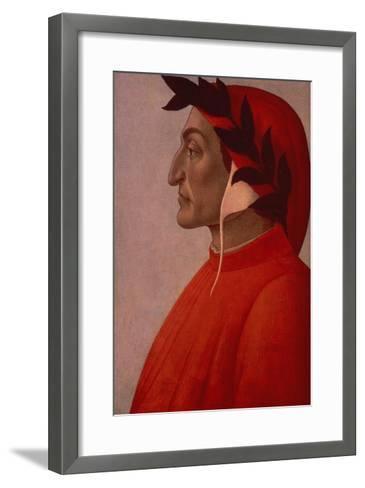 Portrait of Dante-Sandro Botticelli-Framed Art Print