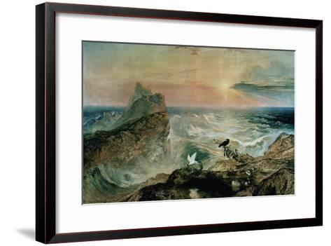 Assuaging of the Waters-John Martin-Framed Art Print