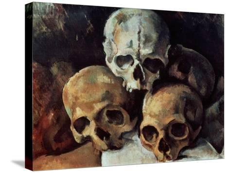 Pyramid of Skulls, 1898-1900-Paul C?zanne-Stretched Canvas Print