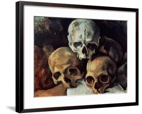 Pyramid of Skulls, 1898-1900-Paul C?zanne-Framed Art Print