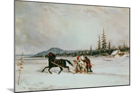 Habitants Sleighing, c.1855-Cornelius Krieghoff-Mounted Giclee Print