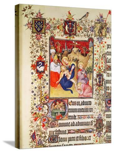 Lat 919 F.77 the Deposition of Christ, from the Grandes Heures De Duc De Berry, 1409 (Vellum)-French-Stretched Canvas Print