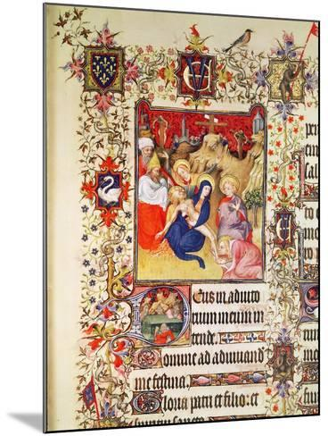 Lat 919 F.77 the Deposition of Christ, from the Grandes Heures De Duc De Berry, 1409 (Vellum)-French-Mounted Giclee Print