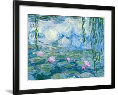 Waterlilies, 1916-19 (Detail)-Claude Monet-Framed Art Print