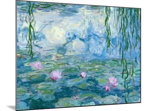 Waterlilies, 1916-19 (Detail)-Claude Monet-Mounted Giclee Print