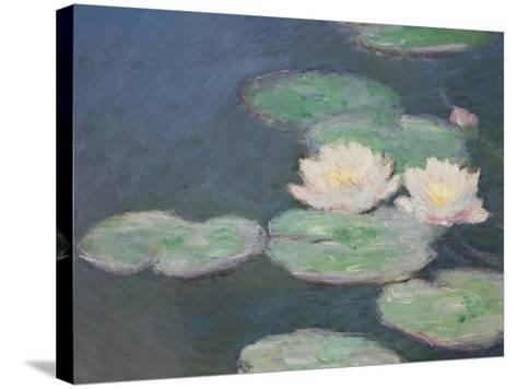 Waterlilies, Evening; Detail-Claude Monet-Stretched Canvas Print