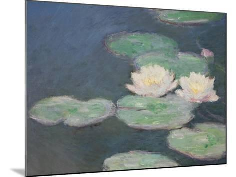 Waterlilies, Evening; Detail-Claude Monet-Mounted Giclee Print