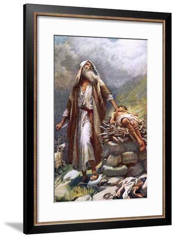 Abraham and Isaac-Harold Copping-Framed Art Print