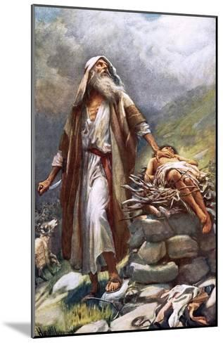 Abraham and Isaac-Harold Copping-Mounted Giclee Print