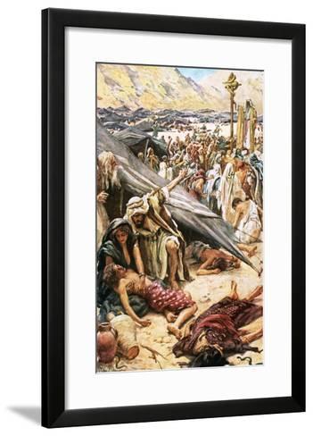 The Brazen Serpent-Harold Copping-Framed Art Print