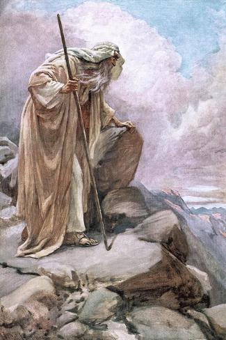Moses on Pisgah-Harold Copping-Stretched Canvas Print