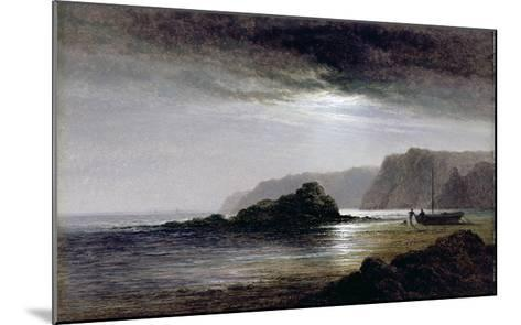 Coastal Landscape by Moonlight (Oil on Panel)-Arthur Gilbert-Mounted Giclee Print