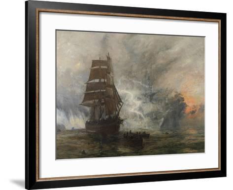 The Phantom Ship-William Lionel Wyllie-Framed Art Print