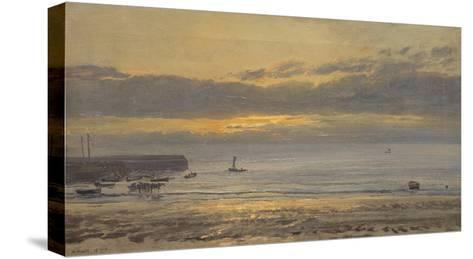 Before Sunrise, Scarborough - Low Water, 1878-Henry Moore-Stretched Canvas Print