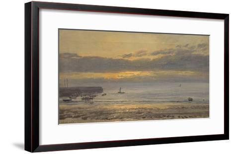 Before Sunrise, Scarborough - Low Water, 1878-Henry Moore-Framed Art Print