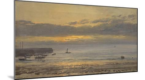 Before Sunrise, Scarborough - Low Water, 1878-Henry Moore-Mounted Giclee Print