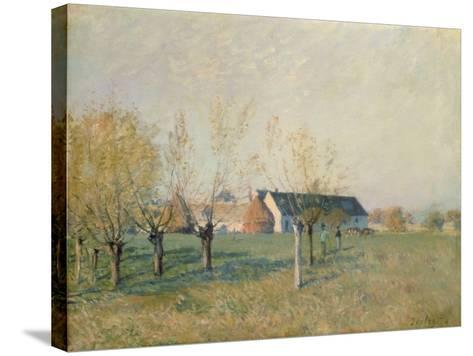 The Farm, 1874-Alfred Sisley-Stretched Canvas Print