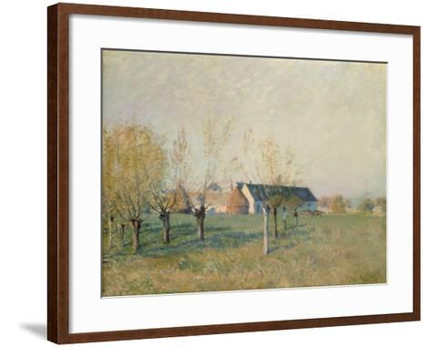 The Farm, 1874-Alfred Sisley-Framed Art Print