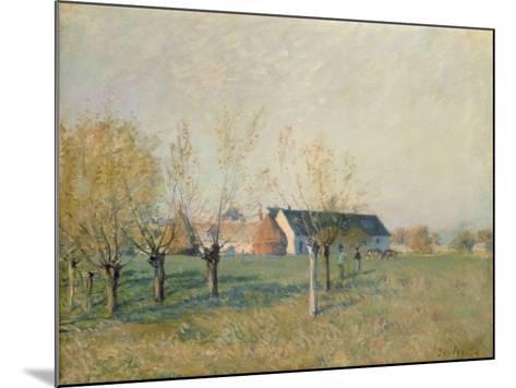 The Farm, 1874-Alfred Sisley-Mounted Giclee Print