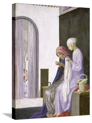Mary in the House of Elizabeth, 1917-Robert Anning Bell-Stretched Canvas Print