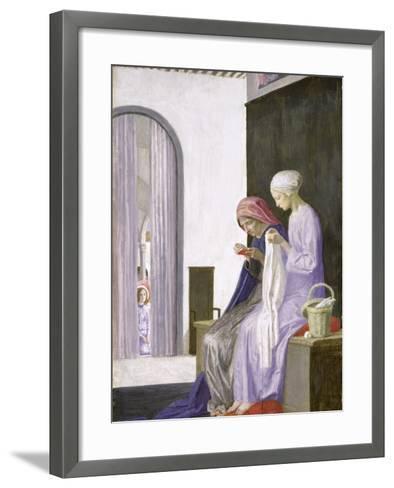Mary in the House of Elizabeth, 1917-Robert Anning Bell-Framed Art Print