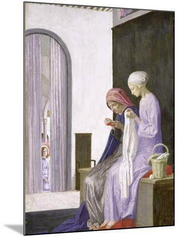 Mary in the House of Elizabeth, 1917-Robert Anning Bell-Mounted Giclee Print