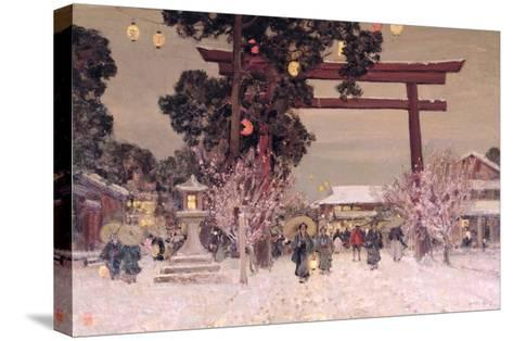 View of a Shinto Shrine, c.1889-Sir Alfred East-Stretched Canvas Print