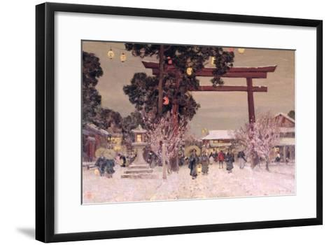 View of a Shinto Shrine, c.1889-Sir Alfred East-Framed Art Print