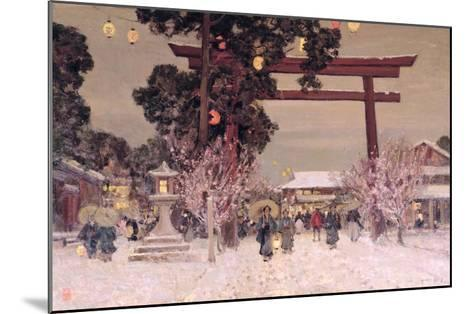 View of a Shinto Shrine, c.1889-Sir Alfred East-Mounted Giclee Print