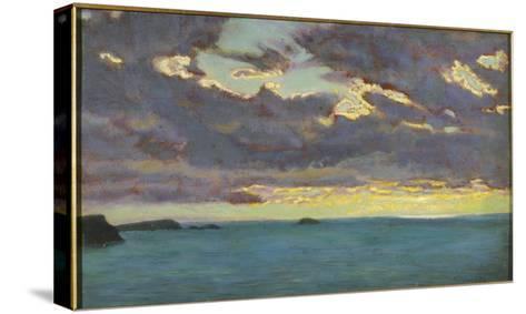 From Pentire Point (Oil on Panel)-Arthur Hughes-Stretched Canvas Print