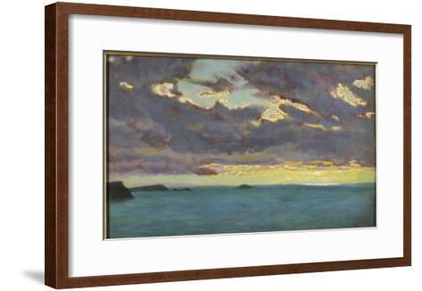 From Pentire Point (Oil on Panel)-Arthur Hughes-Framed Art Print