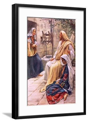 Martha and Mary-Harold Copping-Framed Art Print
