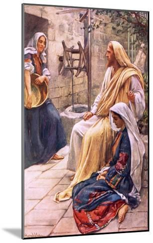 Martha and Mary-Harold Copping-Mounted Giclee Print