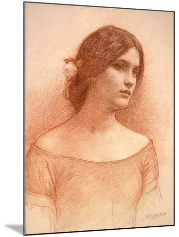 Study for 'The Lady Clare', C.1900 (Red Chalk on Paper) (See 55018)-John William Waterhouse-Mounted Giclee Print