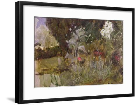 Study of Flowers and Foliage, for 'The Enchanted Garden'-John William Waterhouse-Framed Art Print
