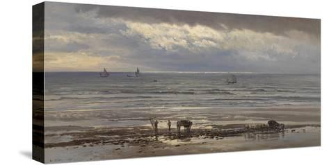 Kelp Gatherers - a Grey Morning, 1874-Henry Moore-Stretched Canvas Print