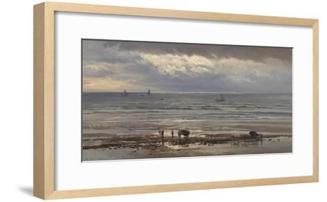 Kelp Gatherers - a Grey Morning, 1874-Henry Moore-Framed Art Print