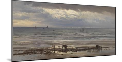 Kelp Gatherers - a Grey Morning, 1874-Henry Moore-Mounted Giclee Print
