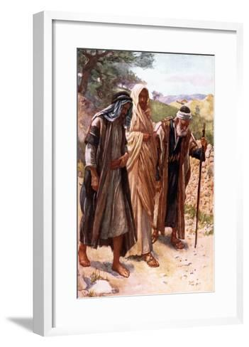 The Walk to Emmaus-Harold Copping-Framed Art Print