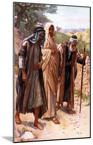The Walk to Emmaus-Harold Copping-Mounted Giclee Print