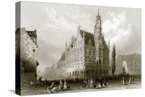 Hotel De Ville-English-Stretched Canvas Print