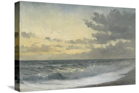 Twilight - Sad Melody (Oil on Board)-William Pye-Stretched Canvas Print